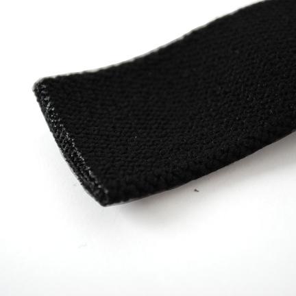 Band met korte rek 25mm zwart