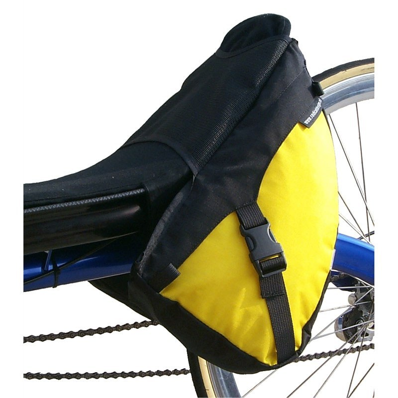 Solo Racer Wide Recumbent Bag On Bike