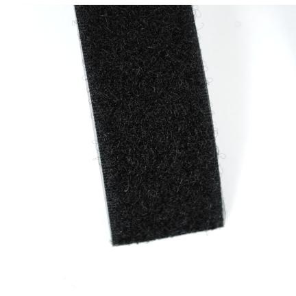Klittenband zwart 25 mm lus