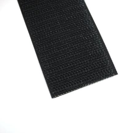 Klittenband zwart 38 mm haak
