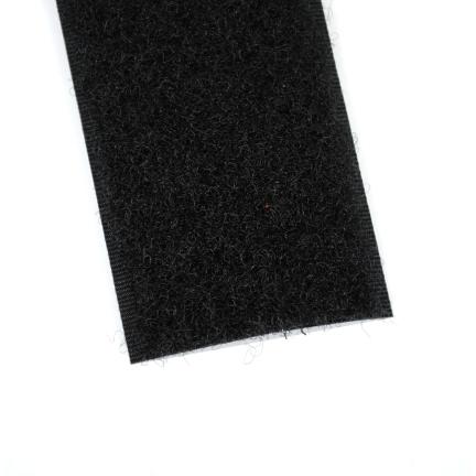 Klittenband zwart 38 mm lus